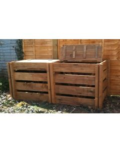 1200 Blackdown Range Double Slotted Wooden Composter with Lids