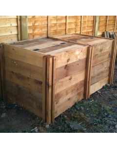 800 Blackdown Range Double Standard Wooden Composter with Lids