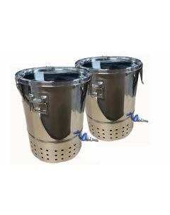 30L Double Deluxe Stainless Steel Bokashi Composter