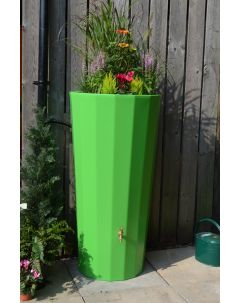 255L Metropolitan Water Butt with Planter in Apple Green