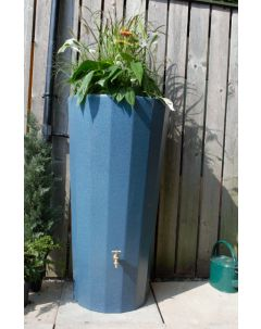 255L Metropolitan Water Butt with Planter in Blue Marble