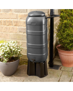 100L Grey RainSaver Kit (Includes Multi Piece Stand and Diverter)