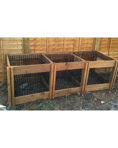 1150 Blackdown Range Triple Leaf Mould Wooden Composter