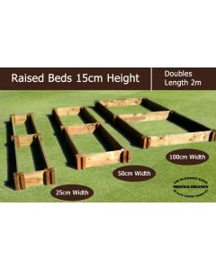 15cm High Double Raised Beds - Blackdown Range - 50cm Wide
