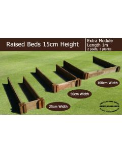 15cm High Extra Module for Raised Beds - Blackdown Range - 50cm Wide