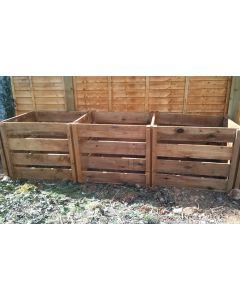 1900 Blackdown Range Triple Slotted Wooden Composter