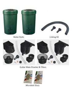 350L Magnum Rain Barrel Water Butt Twin Pack