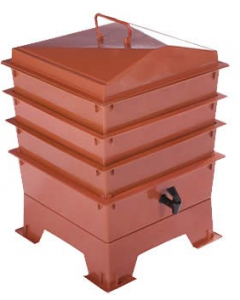 3 Tray Standard Tiger Wormery Terracotta