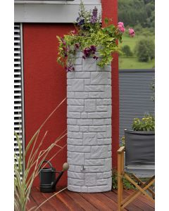 460L Arcado Replica Stone Pillar Column Water Butt - Granite