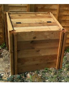 400 Blackdown Range Single Standard Wooden Composter with Lid