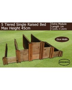 45cm High 5 Tiered Raised Beds Extra Module - Blackdown Range - 50cm Wide