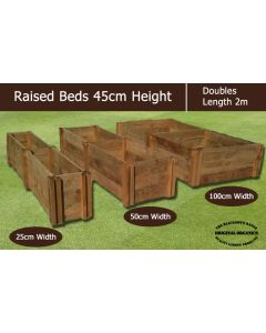 45cm High Double Raised Beds - Blackdown Range - 25cm Wide