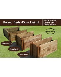 45cm High Extra Module for Raised Beds - Blackdown Range - 100cm Wide