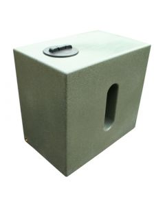 500 Litre Cube Water Tank in Marble Green
