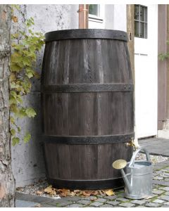 500L Wood Effect Water Butt Barrel