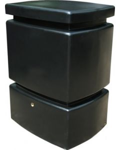 525L Mini Pillar Marble Effect Rainwater Tank in Black
