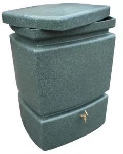 525L Mini Pillar Marble Effect Rainwater Tank in Green Marble