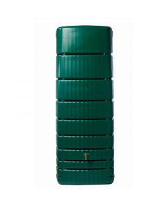 650L Slim Rainwater Wall Tank - Green