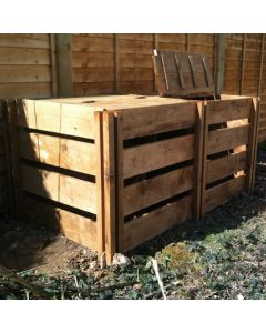 800 Blackdown Range Double Slotted Wooden Composter with Lids