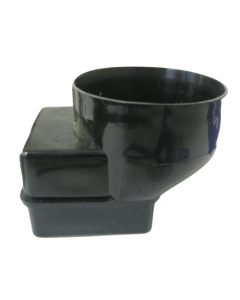 Black 60mm Square Adapter for Gutter Mate