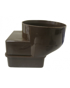 Brown 60mm Square Adapter for Gutter Mate
