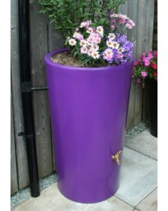 180L Garden Planter Water Butt Purple