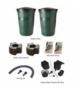 200L Garden Lake Water Butt Twin Pack