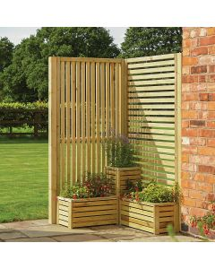 Wooden Slatted Corner Set