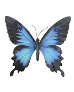Large Blue and Black Butterfly Garden Ornament