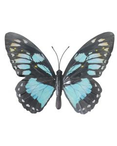 Large Black and Light Blue Butterfly Garden Ornament