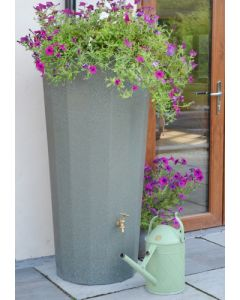 255L Metropolitan Water Butt with Planter in Green Marble