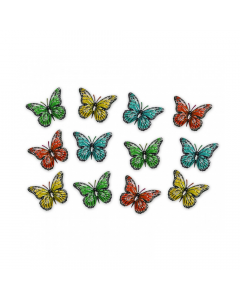 Metal Butterflies (Pack of 12 Ornaments)