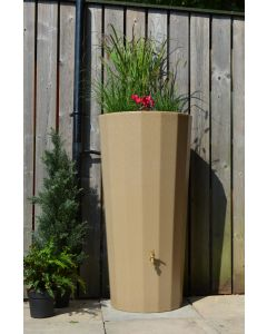 255L Metropolitan Water Butt with Planter in Sandstone