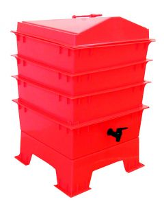 3 Tray Deluxe Tiger Rainbow Wormery Electric Red