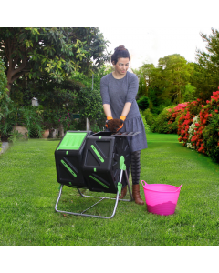 Gardening Naturally Dual Tumbling Composter 2 x 70L Cells