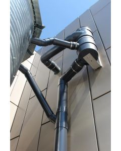 Large Vortex Rainwater Collection Filters for Barns & Warehouses - 150mm insitu
