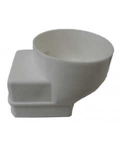 White 60mm Square Adapter for Gutter Mate