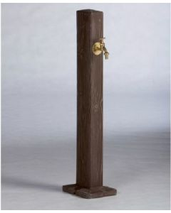 Wood Effect Garden Watering Post in Walnut